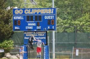Norwell H.S. clipper score board